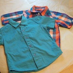 Bundle boys short sleeve button down shirts